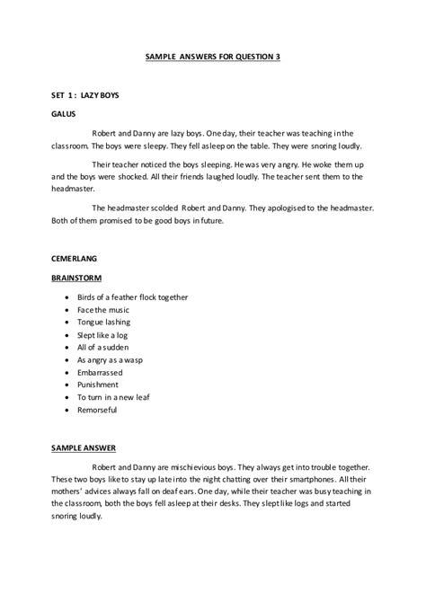 brainstorming technique  upsr english writing