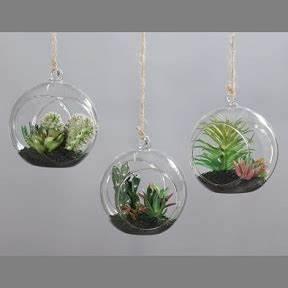 Support Verre Suspendu : boule verre suspendre 13 avec succulentes florimat ~ Teatrodelosmanantiales.com Idées de Décoration
