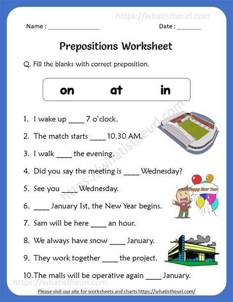 preposition worksheets   grade rel   home teacher