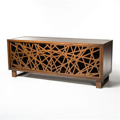 Credenza Design by Modern Credenza Media Cabinet Featuring Laser Cut Door