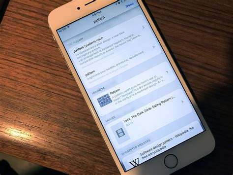 Look Up Replaces Define In Ios 10