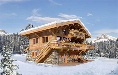 les chalets de morzine programme immobilier 3d 171 le hameau des seugets 187 4 chalets hm finance 4d univers studio