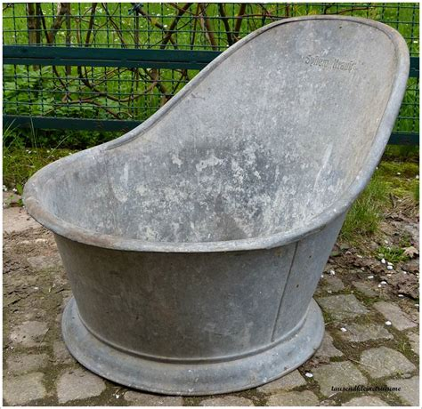 Sitzwanne System Krauß Badewanne Wanne Zinkwanne Garten