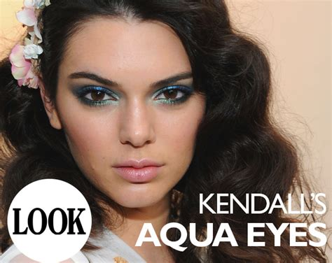 kendall jenners blue smokey eye  magazine