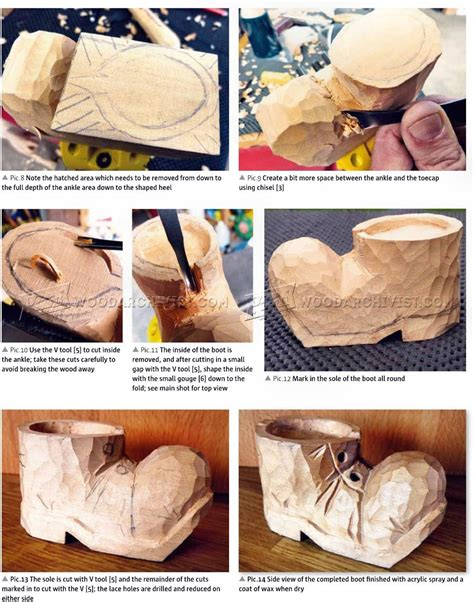 carving  boot wood carving patterns woodarchivist