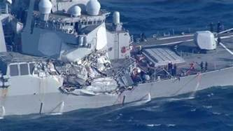 Image result for 2017 navy collision