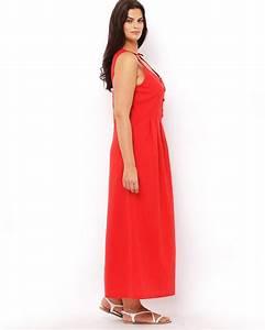 robe longue rouge grande taille fluide ete la robe longue With robe fluide grande taille