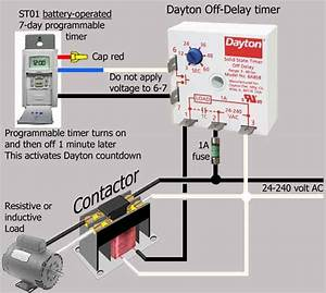 On Off Timer Relay Circuit Diagram