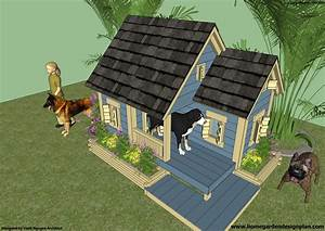 Home garden plans dh300 dog house plans free how to for How to build an insulated dog house