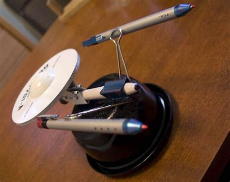 trek desk assembly build the starship enterprise from useless office supplies