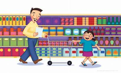 Supermarket Clipart Grocery Cartoon Shopping Transparent Playground