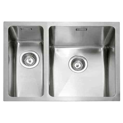 inset stainless steel kitchen sinks caple mode 150 stainless steel inset or undermount sink 7530