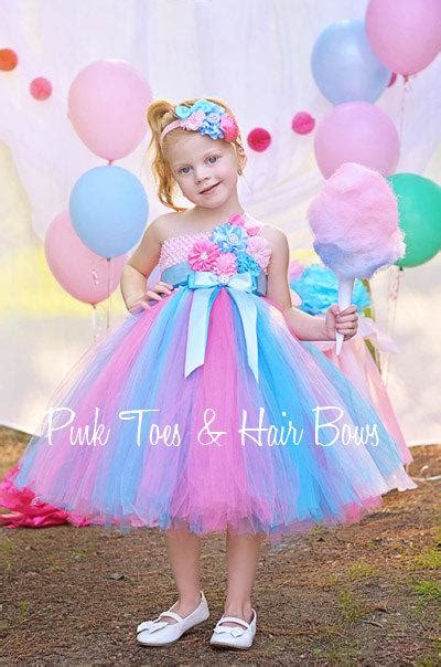cotton candy dress dress pink  blue pink toes hair