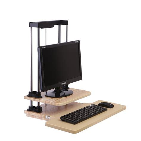 adjustable standing computer desk height width adjustable office computer laptop standing