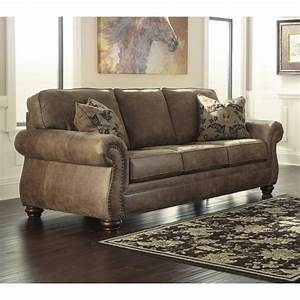 ashley larkinhurst faux leather sofa in earth 3190138 With faux leather sectional sofa ashley