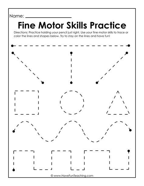 motor skills practice worksheet 769 | fine motor skills practice worksheet