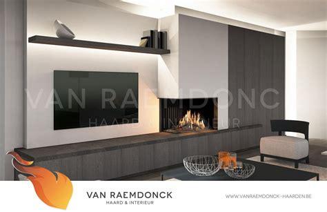 huis en haard interieur moderne hoekhaard met tv van raemdonck haard