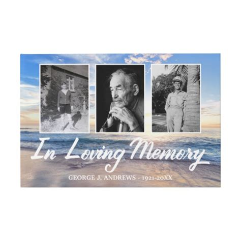 ocean  loving memory photo collage guest book zazzlecom