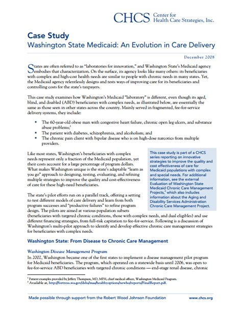 care washington state medicaid health evolution delivery center