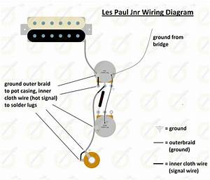 50s Style Wiring Diagram For Gibson Les Paul Junior