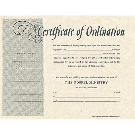 Certificate Of Ordination Template