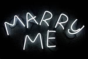 Image gallery neon letters for Marry me light up letters