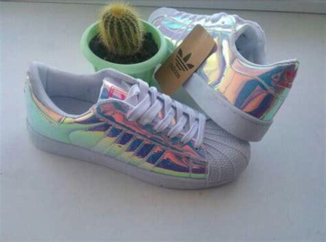Adidas, Holographic, Glitter, White, Adidas Shoes