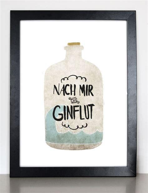"""Kunstdruck """"nach Mir Die Ginflut""""  Formart Zeit Für Schönes"""