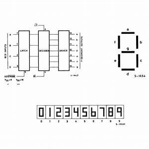 4511 - Bcd-to-7 Segment Latch  Decoder  Driver