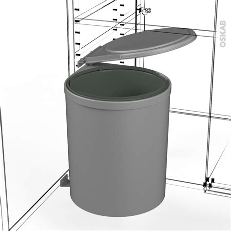poubelle porte cuisine poubelle de porte 13l 1 seau sous évier l28 x h35 cm