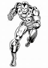 Coloring Superhero Pages Iron Amazing sketch template