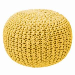 Pouf A Bille : pouf tricot jaune garni de micro billes pour votre confort 98 id es d co pour la maison ~ Teatrodelosmanantiales.com Idées de Décoration