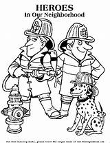 Firefighter Coloring Fire Printable Police Fireman Dog Truck Safety Colouring Responders Dalmatian Firemen Fighters Clipart Firefighters Printing Heroes Printables Momjunction sketch template