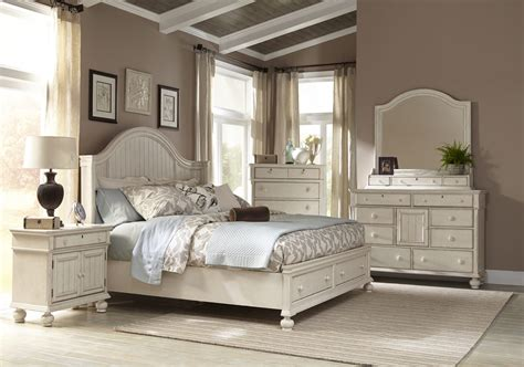 Bedroom Furniture by American Woodcrafters Newport 4 Panel Bedroom Set W