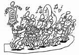 Coloring Band Marching Sheets Mayo sketch template