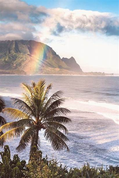 Hawaii Kauai Early Oahu Beaches Morning Heart