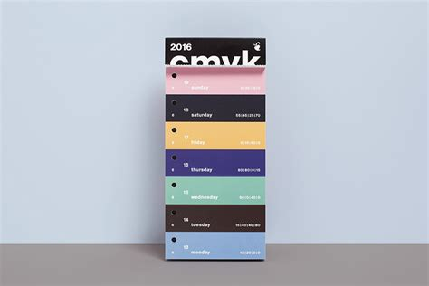 Typo Kalender 2016 by Shop Color Swatch Calendar 2016 Slanted Typo Weblog