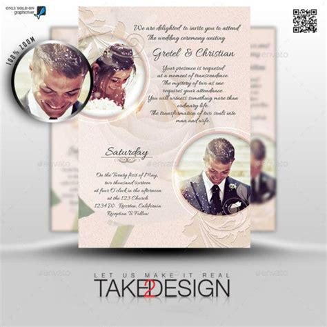 photo wedding invitations ai psd indesign word