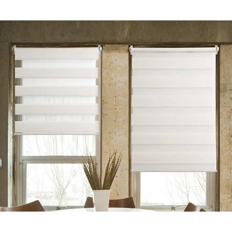 store jour nuit tissu 100 polyester blanc 40x100cm