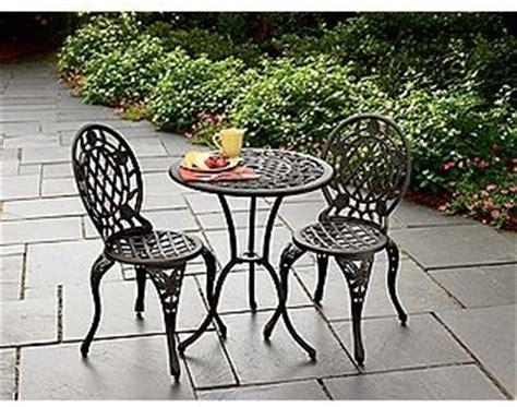cast iron and aluminum bistro set traditional patio