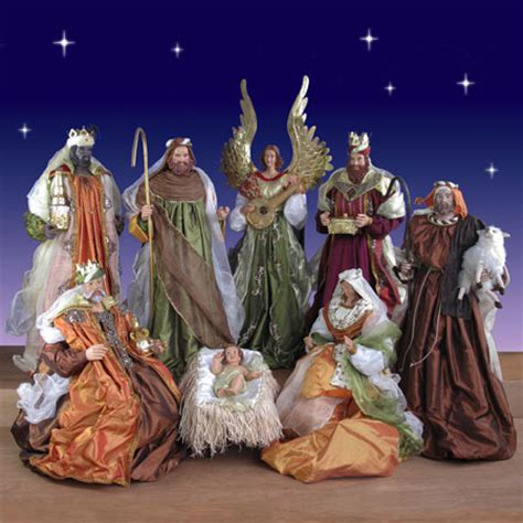 life size nativity  piece set  resin  fabric