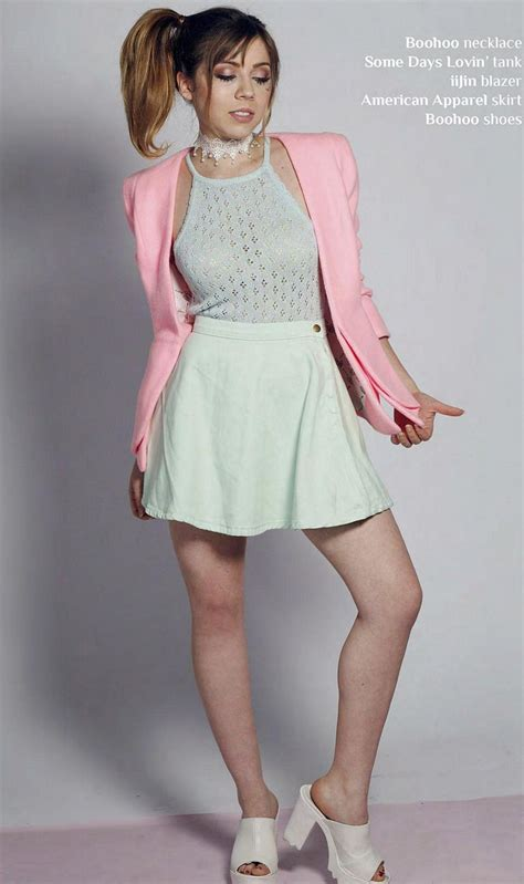 pop minute jennette mccurdy afterglow skirt  photo