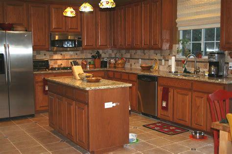 Kitchen Backsplash No Cabinets by 13 Kitchen Backsplash Ideas With Brown Cabinets Gallery