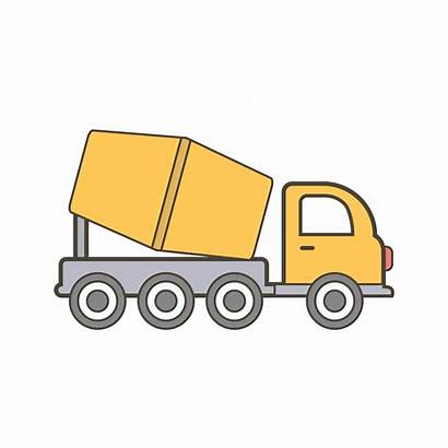 Concrete Mixer Icon Vector Truck Clipart Graphics