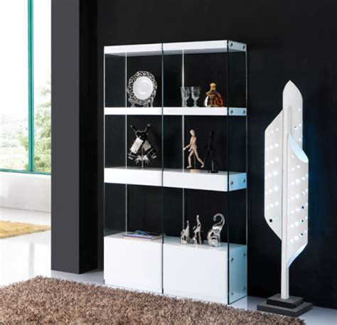 Display Cabinet Modern by Expressia White Gloss Display Cabinet