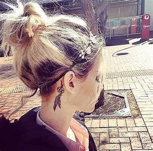 38+ Amazing Feather Behind The Ear Tattoos
