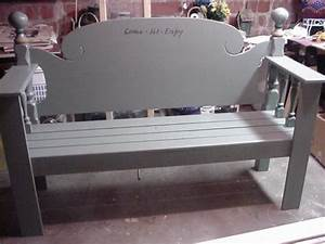 Making A Bench From A Headboard And Footboard