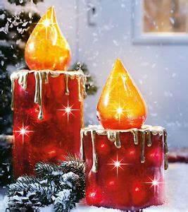Weihnachtsbeleuchtung Außen Balkon : kerzen set beleuchtet xxl lichterkette aussen innen deko ~ Michelbontemps.com Haus und Dekorationen