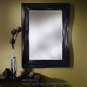 Miroir Cadre Noir : miroir design miroir original au cadre ondul noir topo black deknudt ~ Teatrodelosmanantiales.com Idées de Décoration