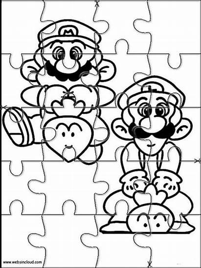 Mario Bros Printable Puzzles Coloring Puzzle Imprimir